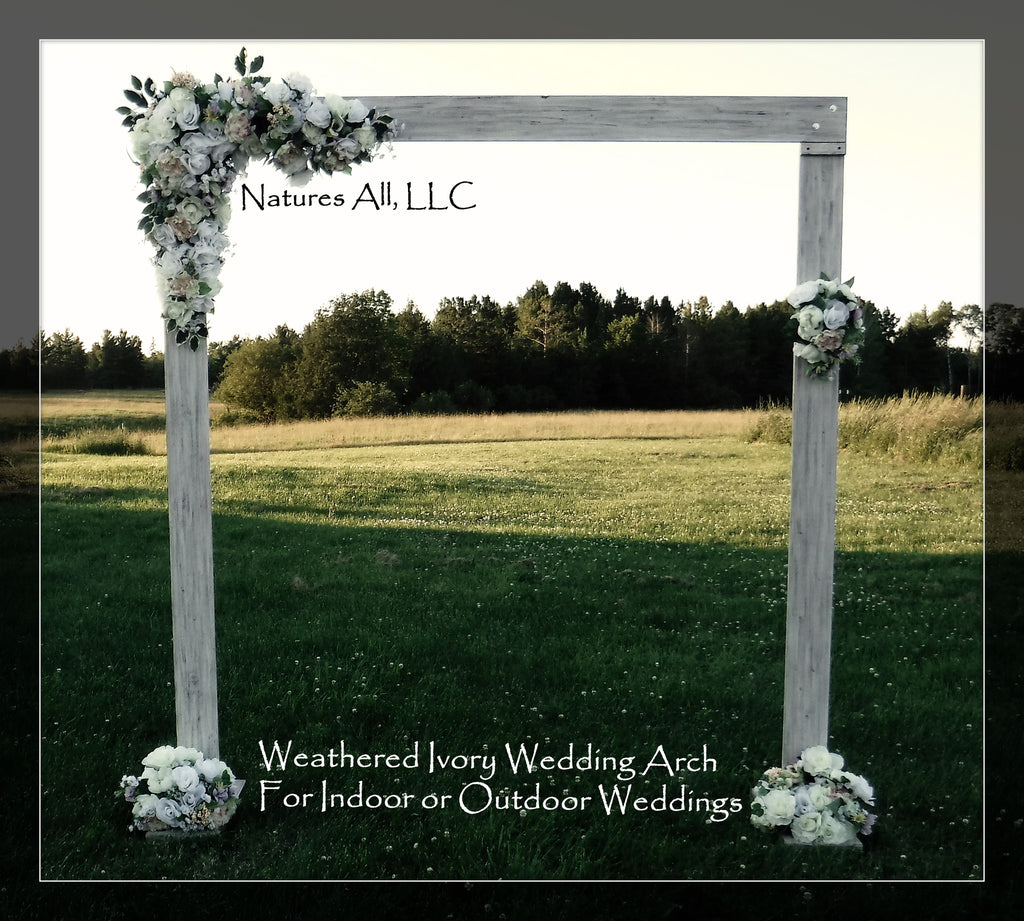 Wedding Arch/Wedding Arbor/Rustic Wedding Arch/Complete Kit/ Indoors Or Outdoors/Country Wedding Backdrop/Weathered Ivory/Shipping Included