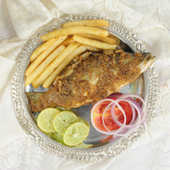 Grilled Fish Platter with Vanilla Panacotta - Serves 2 - Love For Food - CookMyWish.com