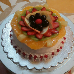 Mixed Fruit Gateau - 1.5 lbs - Chef's Special - The Cake Connection - CookMyWish.com