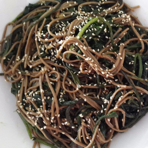 Soba Noodle Salad  (Serves 6-8) - Vasudha's Own Kitchen - CookMyWish.com