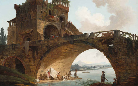 The Ponte Salario, Hubert Robert, c.1775, oil on canvas