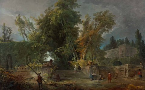Garden of an Italian Villa, Hubert Robert, 1764, oil on canvas