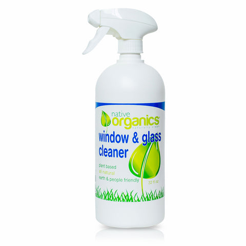 Window & Glass Cleaner 32 oz- 100% Natural, Non-toxic, Child & Pet Safe