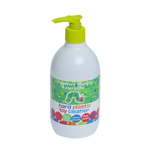 Hard Plastic Toy & Dish Cleaner 12 oz.- 100% Natural, Non-toxic, Child & Pet Safe Fresh Apple Scent
