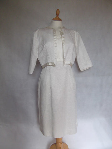 1950's Ivory Dress and Jacket Wedding