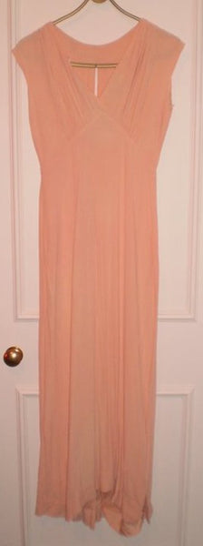 1930's Peach Crepe Evening Gown