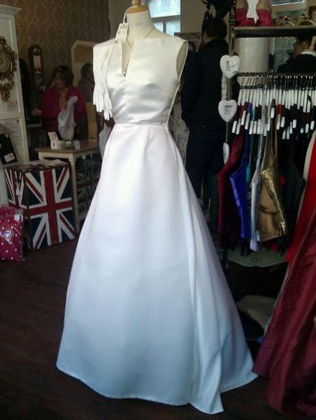1950's Re-creation Audrey Style Wedding Gown