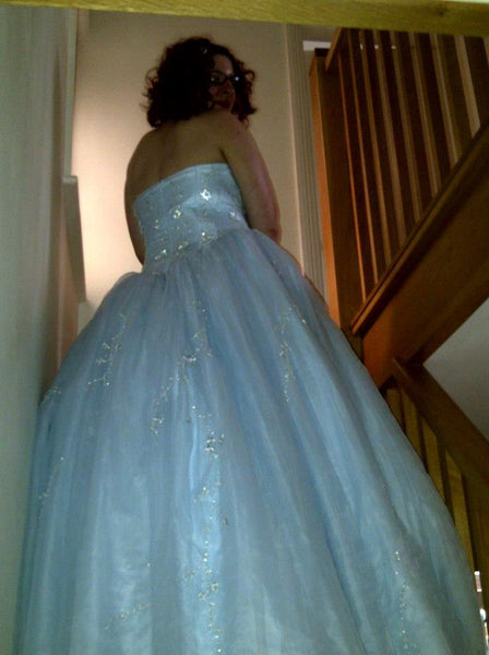 Blue-Belle Strapless Wedding Gown, Prom/Evening Dress