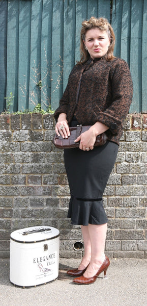 1950s Black and Brown Jacket