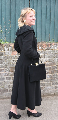 1950's Lachasse London Black Coat