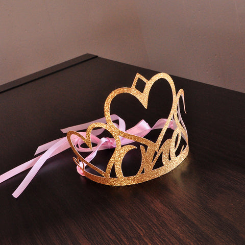 1st Birthday Crown Handcrafted In 1 3 Business Days Pink And Gold First
