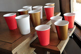 1st Birthday Paper Party Cups in Gold, Coral, and Ivory 12CT. Ships in 1-3 Business Days. Gold and Coral Party Decor.