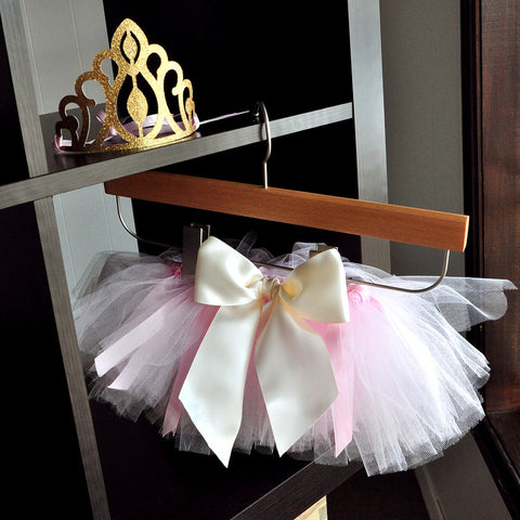 Baby Tutu and Princess Crown Combo. Ships in 1-3 Business Days. Pink and Gold 1st Birthday Outfit. Smash Cake Outfit.