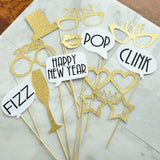 New Years Eve Photo Booth Props. Handcrafted in 1-3 Business Days. Set of 12 Props. New Years Eve Decorations 2019. NYE Photbooth Props.