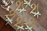 21st Birthday Cupcake Toppers 12CT. Ships in 1-3 Business Days. 21st Birthday Decoration.
