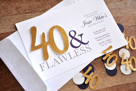 40th Birthday Invitations And Envelopes For Men Women We Print Cut Glue