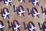 "40th Birthday Party Ideas. Ships in 1-3 Business Days. Number ""40"" Cupcake Toppers 12CT."