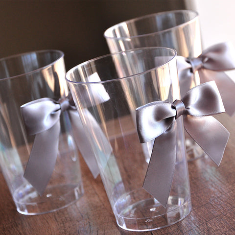 40th Decoration Party Cups 10CT. Ships in 1-3 Business Days. Party Cups with Silver Bows.