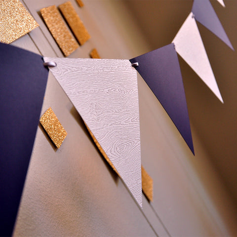 40th Birthday Party Decor Bunting Banner. Ships in 1-3 Business Days. Pennant Banner. Plum and Woodgrain Photo Backdrop.