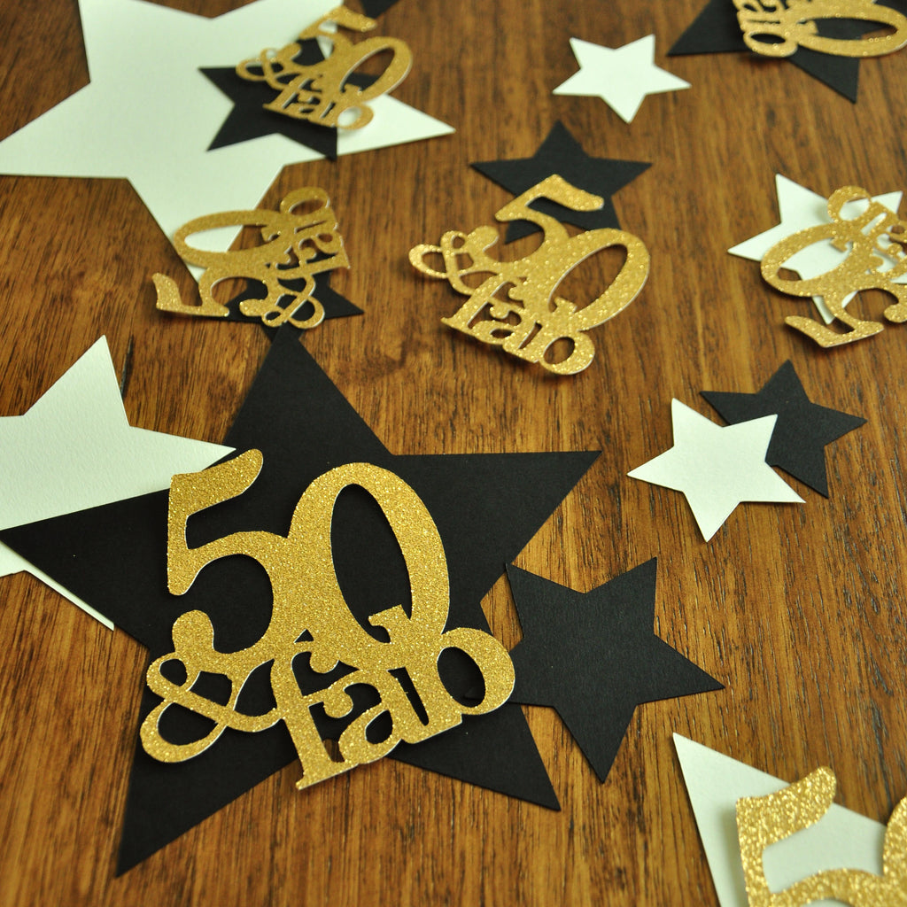 50 And Fabulous 50th Birthday Decorations Handcrafted In 1 3 Busines Confetti Momma