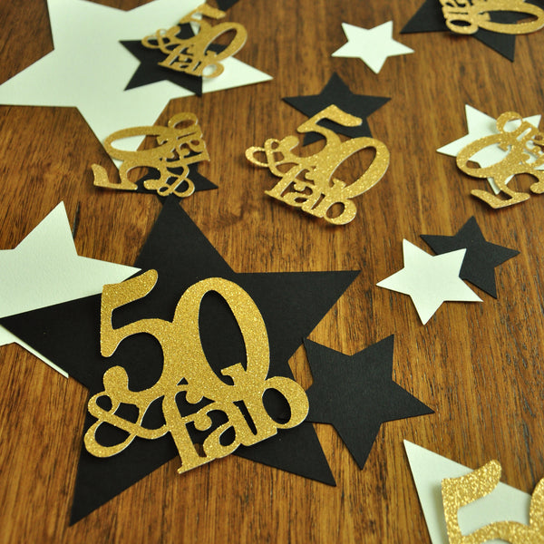 50 And Fabulous. 50th Birthday Decorations. Handcrafted In
