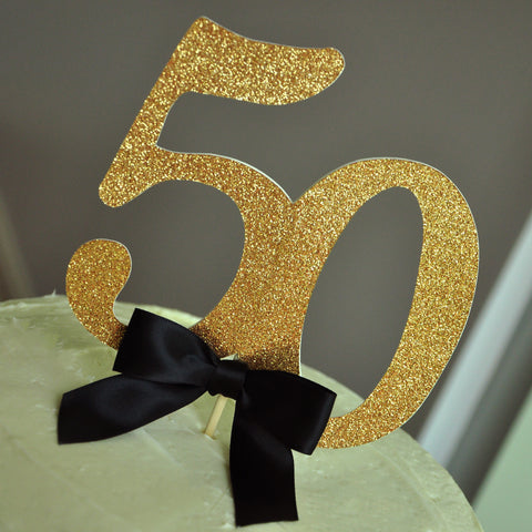 50th Birthday Cake Toppers. Handcrafted in 1-3 Business Days. 50th Birthday Party Decorations. 50 and Fabulous.