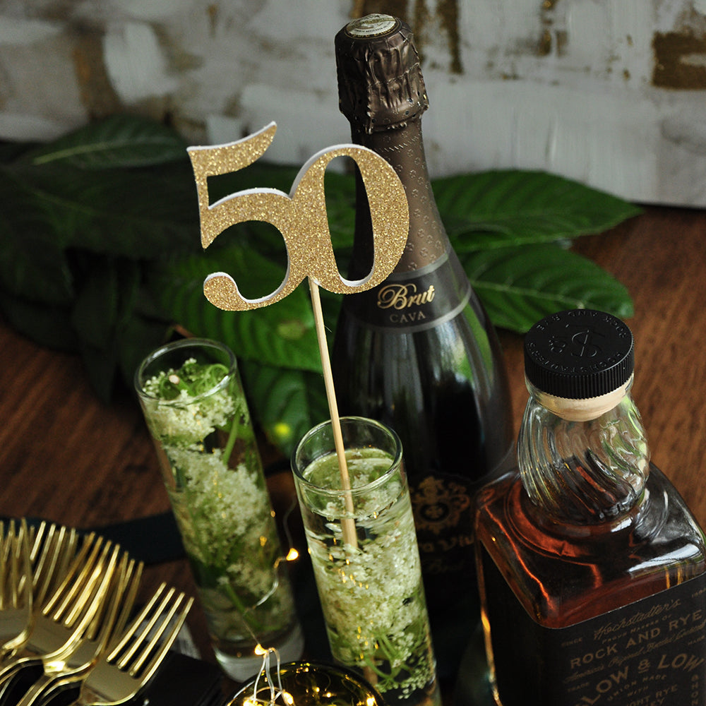 50th Birthday Party Centerpiece Set of 5. Handcrafted in 1-3 Business Days. 50th Birthday Pick.