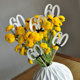 60th Birthday Centerpieces. Ships in 1-3 Business Days. 60th Anniversary Party Centerpiece Set of 5.