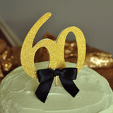 60th Birthday Decorations. 60th Cake Topper. Handcrafted in 1-3 Business Days. 60 Birthday