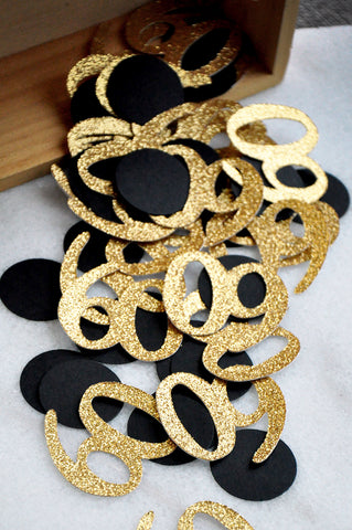 60th Black And Gold Birthday Decorations Created In 1 3 Business Days