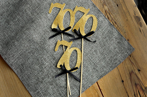 70th Anniversary Party Centerpiece Birthday Centerpieces In Gold And Black 70 Decorations