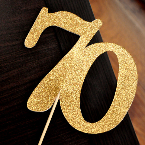 70th Birthday Cake Topper. Handcrafted in 1-3 Business Days. 70th Cake Topper. 70 Birthday Party Decorations.