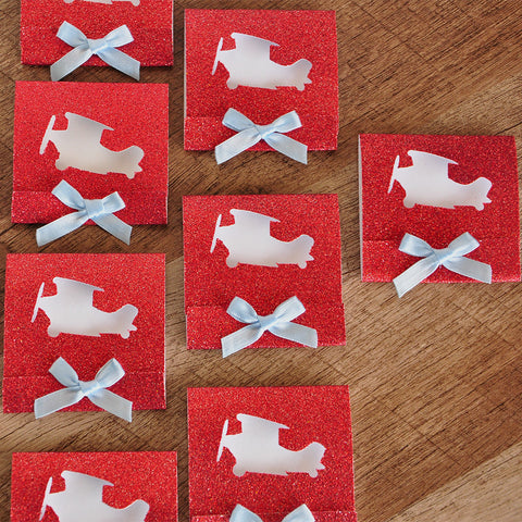 Airplane Party Favor.  Ships in 1-3 Business Days.  Matchbook Notebook.  Mini Note Pad 10 CT.