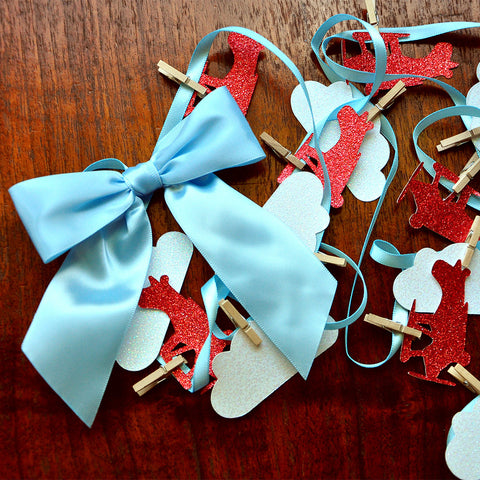 Airplane Garland.  Ships in 1-3 Business Days.  Airplane Party Decorations.