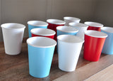 Paper Party Cups for an Airplane Party. Ships in 1-3 Business Days. Time Flies. Set of 12 or More Cups in Baby Blue, White and Red.