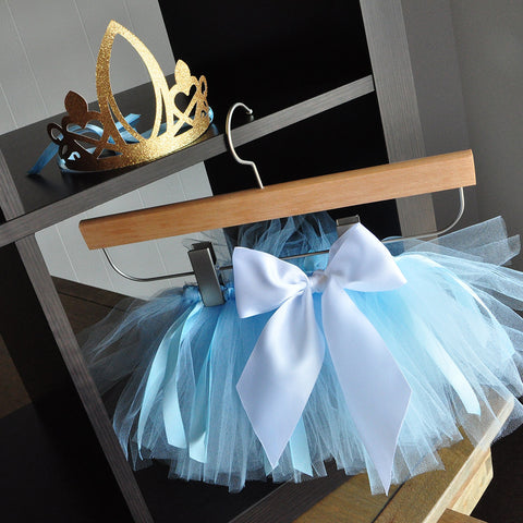Baby Blue Tutu and Princess Crown for Cinderella Party. Ships in 1-3 Business Days. 1st Birthday Outfit. Smash Cake Outfit.