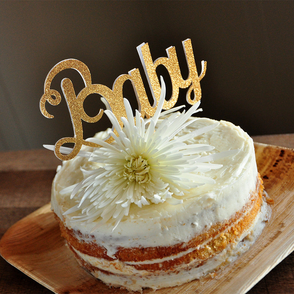 Baby Cake Topper. Ships in 1-3 Business Days. Baby Shower Decor.