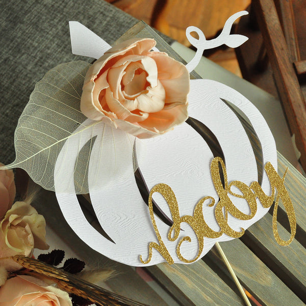 Little Pumpkin Custom Cake Topper Fall Baby Shower