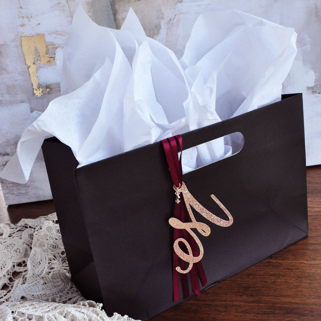 dd6e034726 Bachelorette Gift Bags. Monogram Gift Bag with Swarovski Crystals and –  Confetti Momma