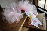 Ballerina Party Tutu and Tiara. Ships in 1-3 Business Days. Ballerina Party Supplies Gold and Pink. Smash Cake Outfit. Tutu Crown Combo.