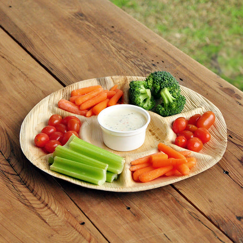 Our Little Bunny is Turning One Party Supplies (1 Tray). Palm Leaf Vegetable Tray. 7 Compartment Tray.