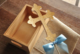 Baptism Decorations for Boys. Ships in 1-3 Business Days. Christening Cross Cake Topper