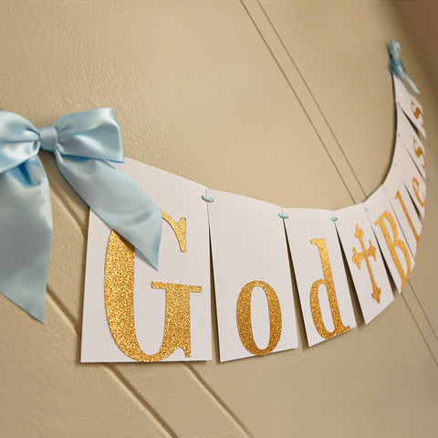 Baptism Banner.  Ships in 1-3 Business Days.  God Bless Banner.