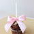 Pink and Gold Party Decoration.  Ships in 1-3 Business Days.  Birthday Candle with Pink Bow.