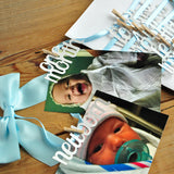 Bunny First Birthday. White and Baby Blue First Birthday Monthly Photo Banner. Peter Rabbit 12 Month Photo Banner