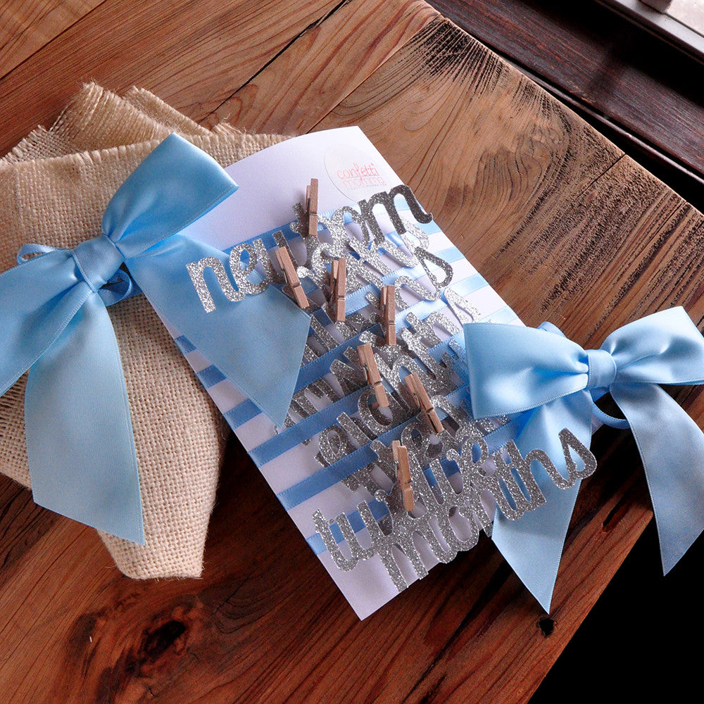 Blue And Silver First Birthday Decorations Ships In 1 3 Business Days Confetti Momma