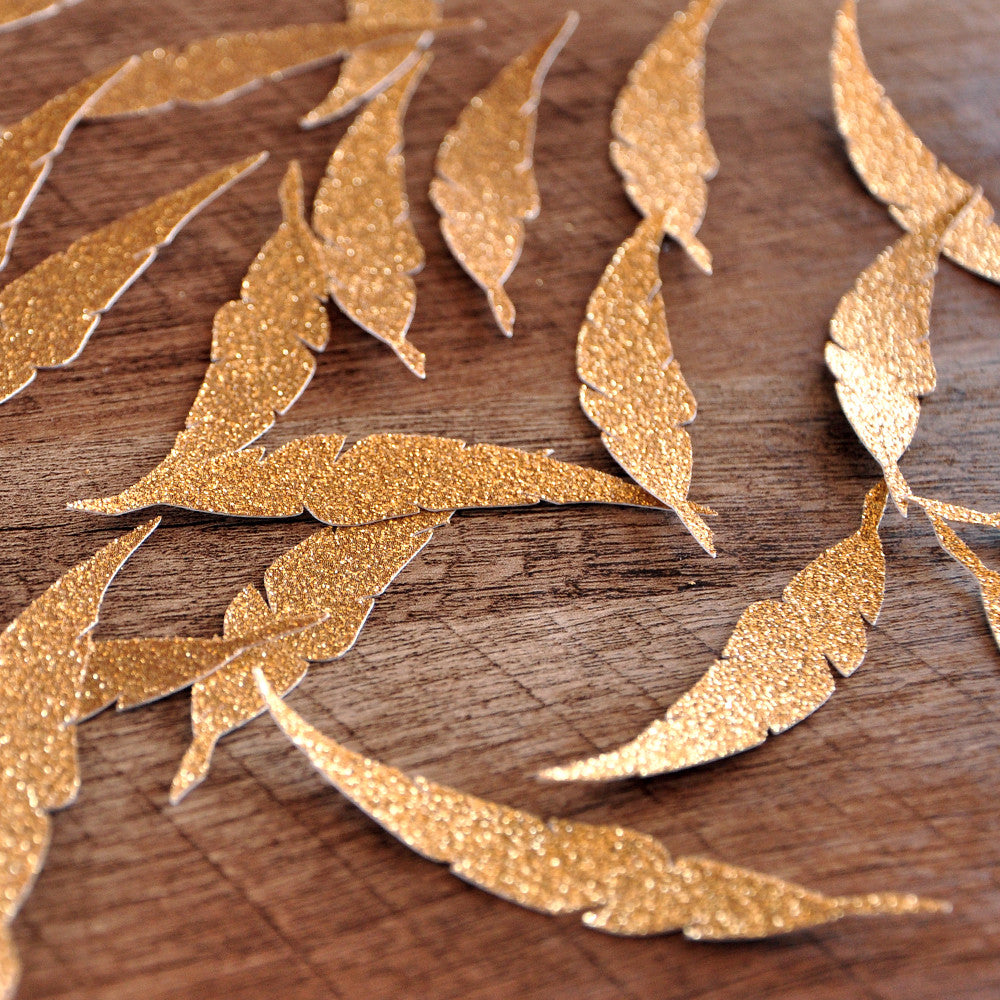 No417 Boho Wedding Tribal Baby Shower Bohemian Party Decorations 25 Feather Confetti