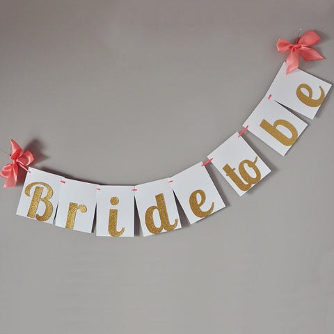 Bridal Brunch Decorations. Ships in 1-3 Business Days. Bride to Be Banner. Bridal Shower Banner.