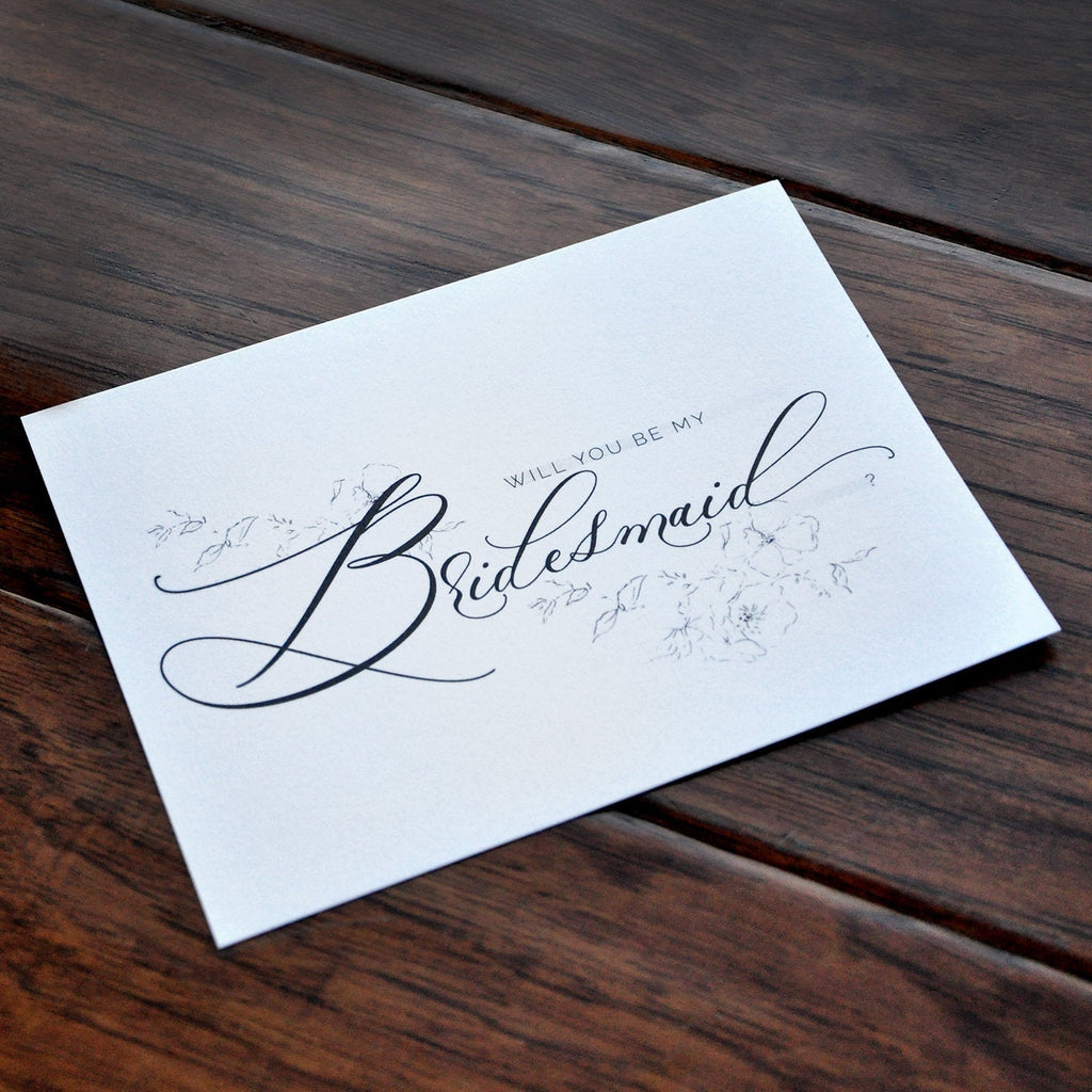Bridesmaid Proposal Card. Will You Be My Bridesmaid Card. Maid of Honor Proposal Card. Flower Girl Proposal Card.