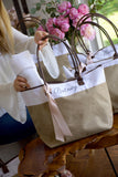 Bridesmaid Tote. Personalized Bridesmaid Gift Bags. Custom Name Bag. Zipper Tote. CmlRT.